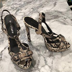 Belstaff Python platform sandal